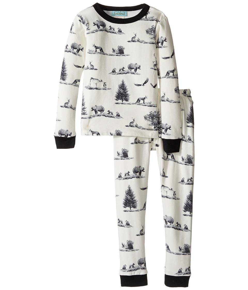 BedHead Kids - Long Sleeve Long Pants Set (Toddler/Little Kids) (Gray American Safari) Boy's Pajama Sets