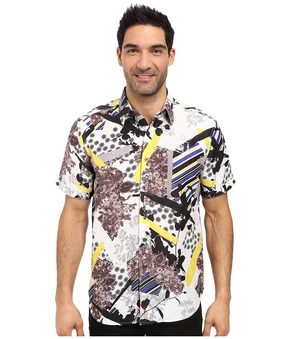 Robert Graham - Gold Mining Short Sleeve Woven Shirt (Goldenrod) Men's Clothing