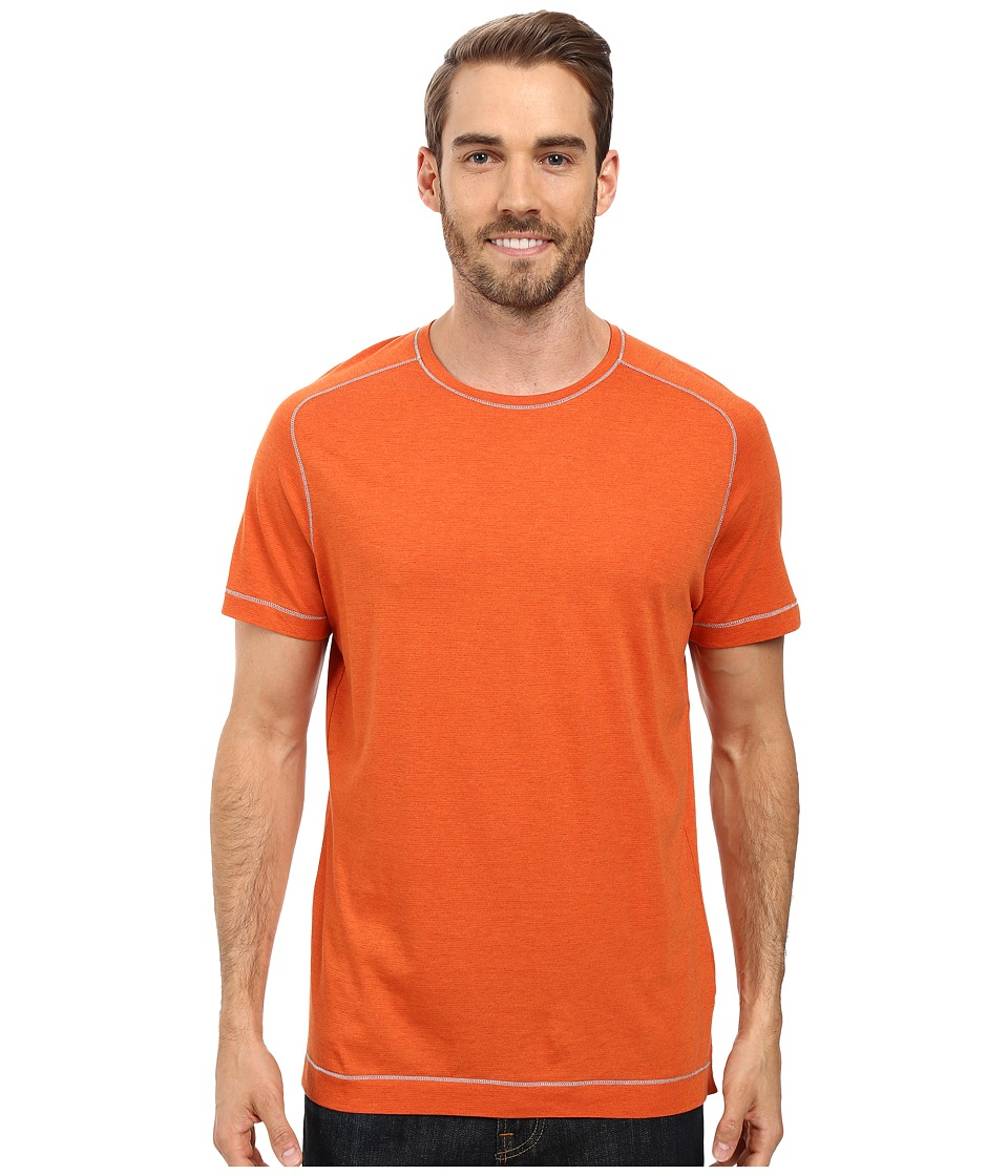 Robert Graham - Flagstaff Short Sleeve Knit T-Shirt (Heather Orange) Men's T Shirt