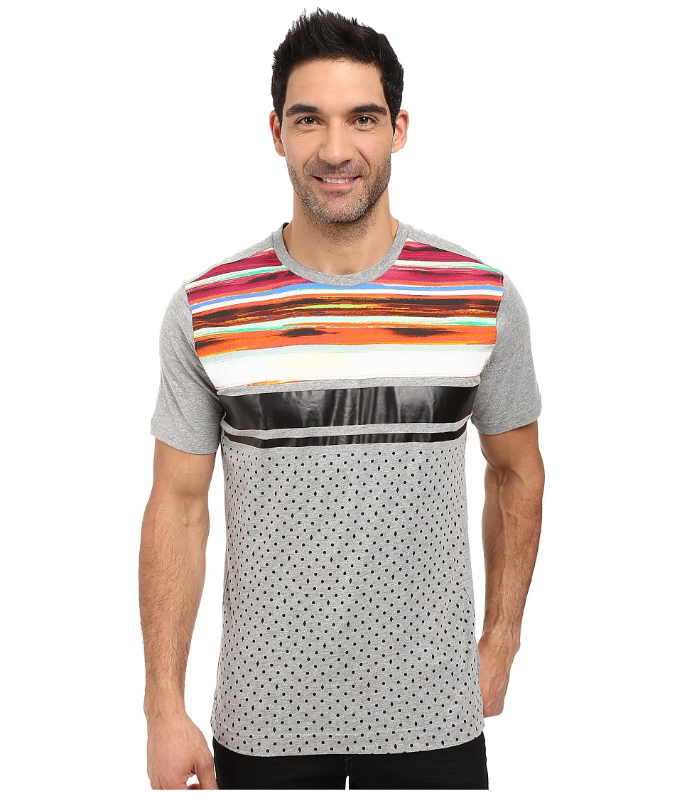 Robert Graham - Apache Trail Short Sleeve Knit T-Shirt (Heather Grey) Men's T Shirt