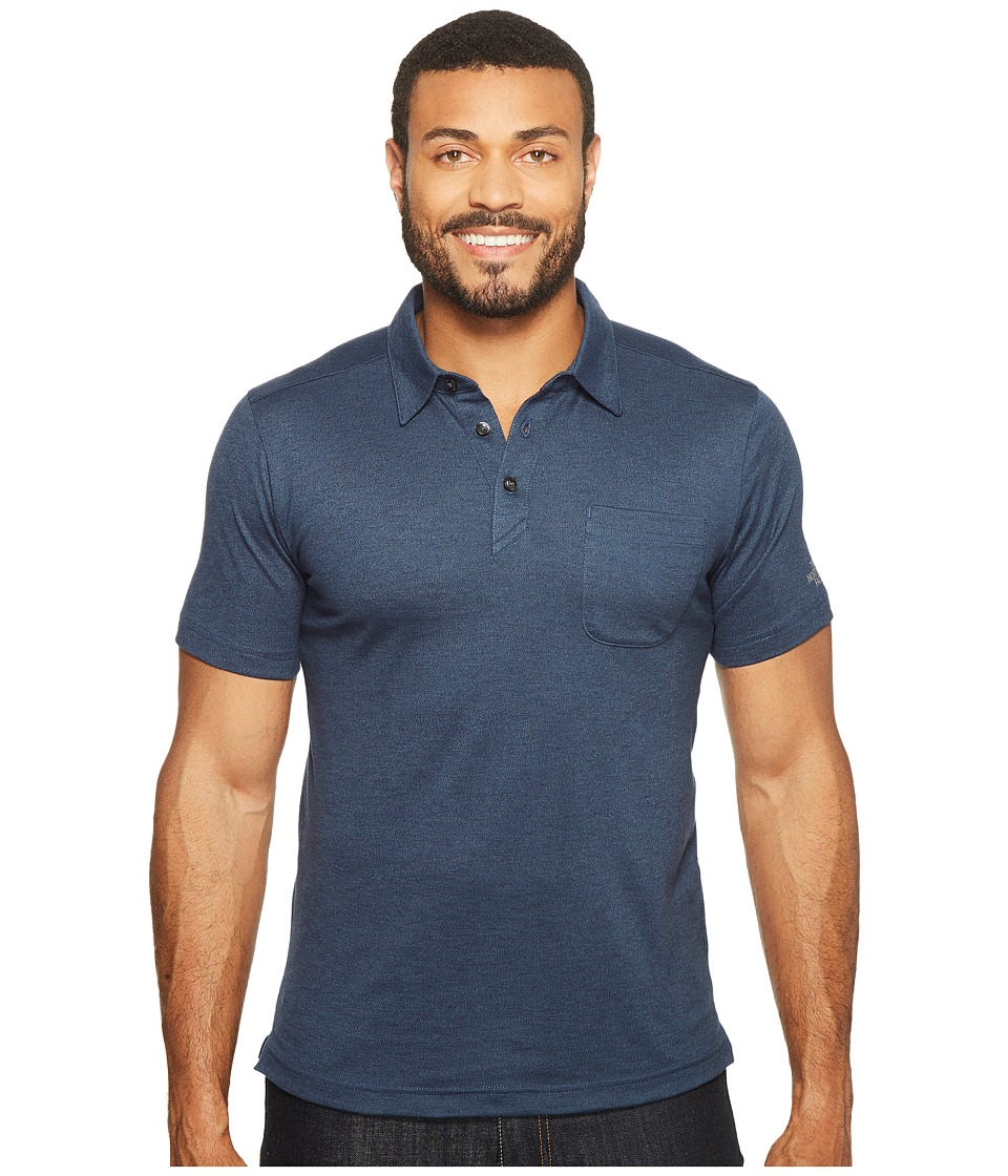 The North Face - Short Sleeve Detour Polo (Shady Blue Heather (Prior Season)) Men's Clothing