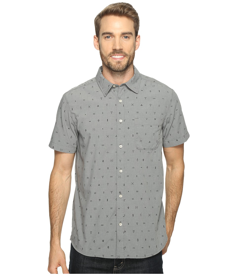 The North Face - Short Sleeve Pursuit Shirt (Zinc Grey Uncharted Print (Prior Season)) Men's Short Sleeve Button Up