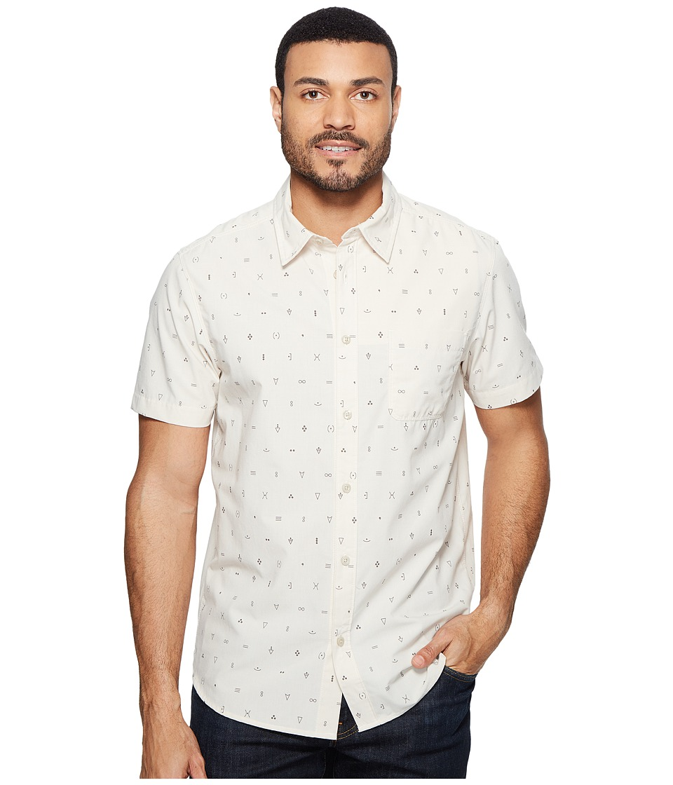 The North Face - Short Sleeve Pursuit Shirt (Vintage White Uncharted Print (Prior Season)) Men's Short Sleeve Button Up