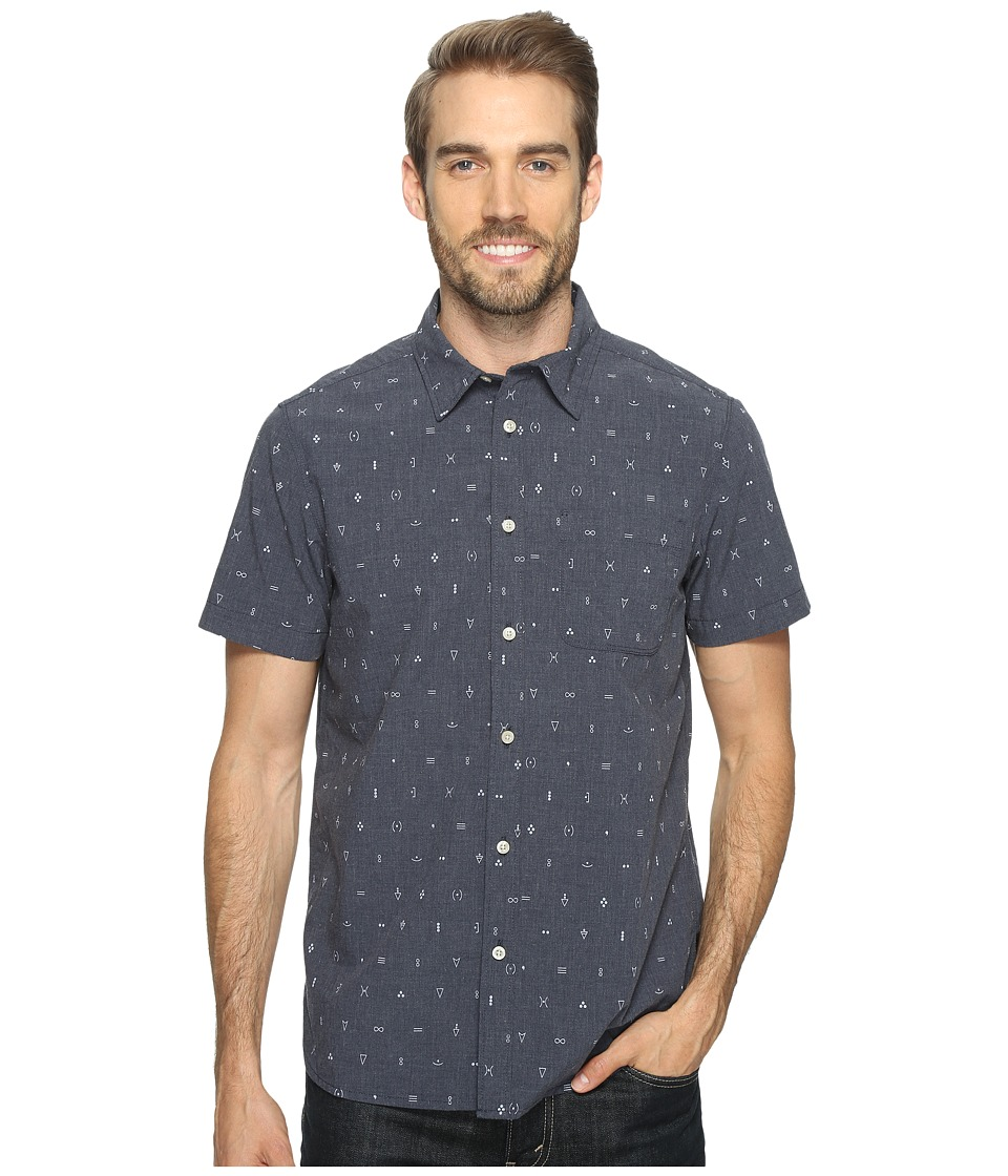 The North Face - Short Sleeve Pursuit Shirt (Urban Navy Uncharted Print (Prior Season)) Men's Short Sleeve Button Up