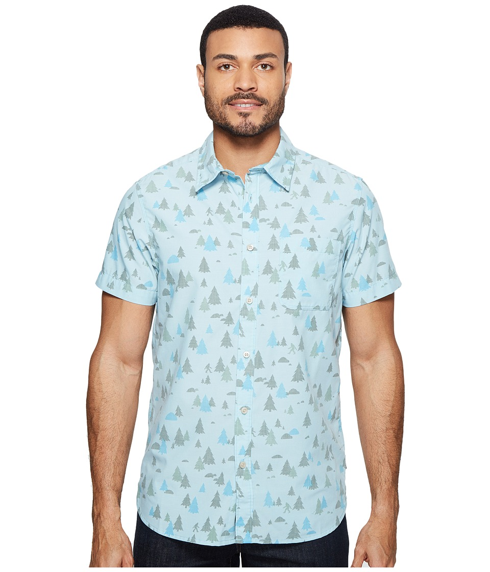 The North Face - Short Sleeve Pursuit Shirt (Blizzard Blue Sasquatch Print (Prior Season)) Men's Short Sleeve Button Up