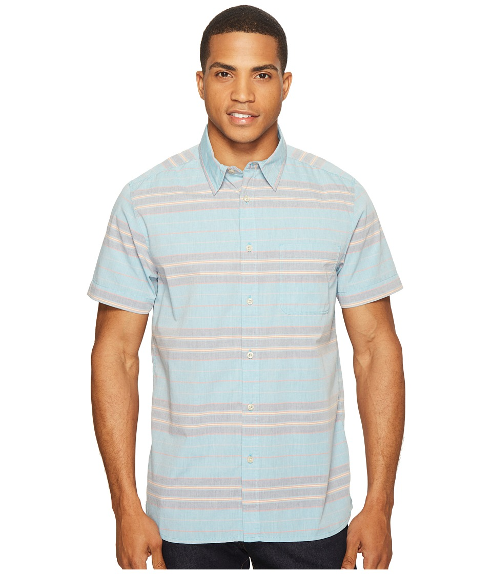 The North Face - Chambray Pursuit Shirt (Blue Moon Stripe (Prior Season)) Men's Short Sleeve Button Up