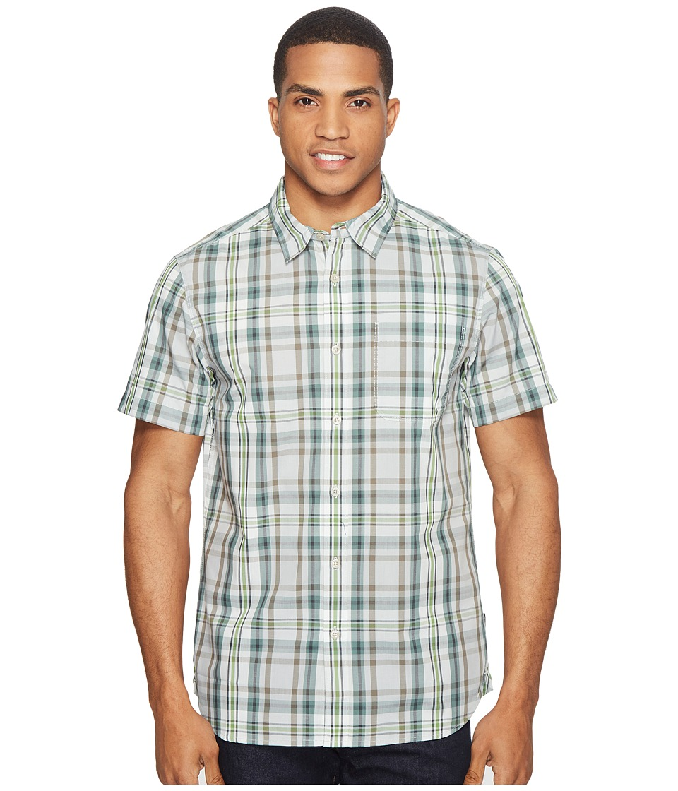 The North Face - Short Sleeve Passport Shirt (High-Rise Grey Plaid (Prior Season)) Men's Short Sleeve Button Up