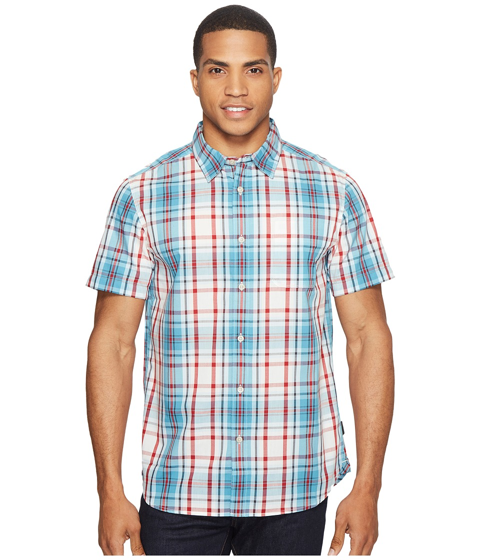 The North Face Short Sleeve Passport Shirt (Vintage White Plaid (Prior Season)) Men