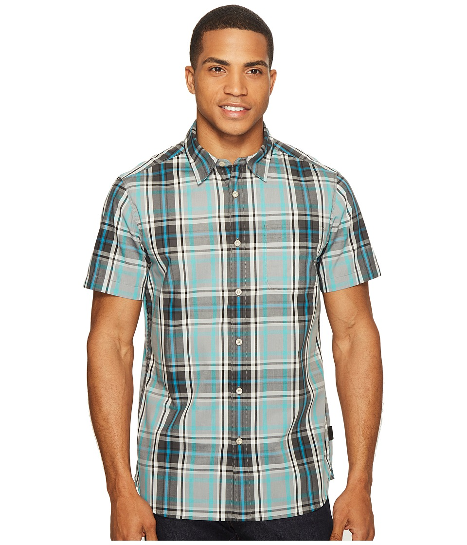 The North Face - Short Sleeve Passport Shirt (Mid Grey Plaid (Prior Season)) Men's Short Sleeve Button Up