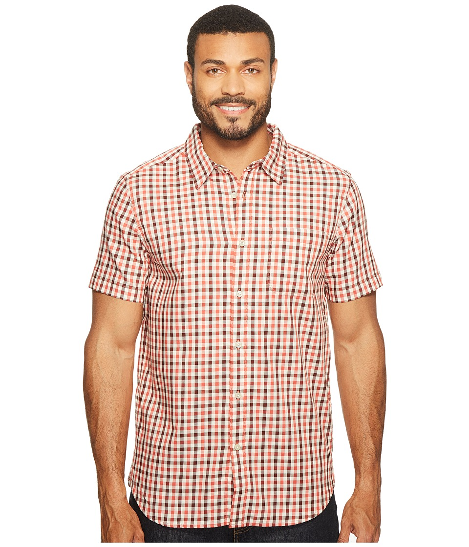 The North Face Short Sleeve Passport Shirt (Sunbaked Red Plaid (Prior Season)) Men