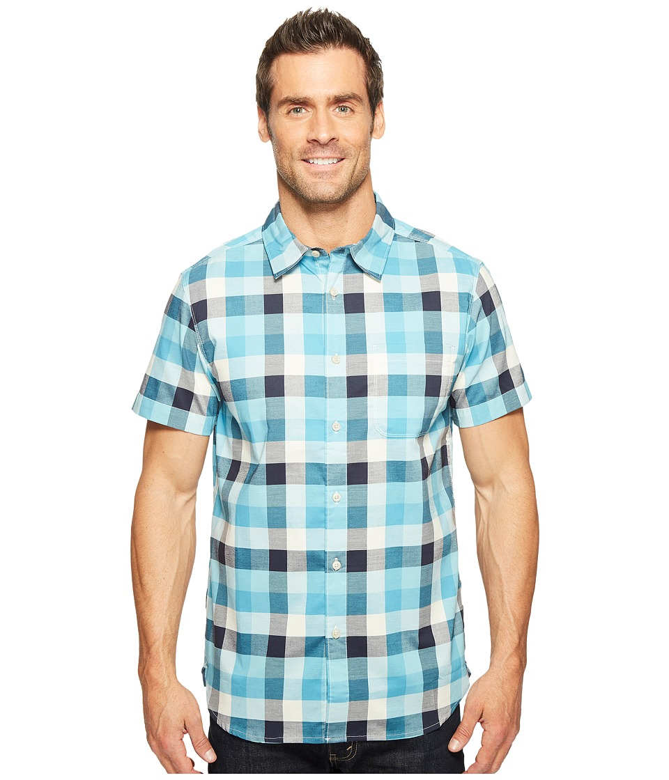 The North Face - Short Sleeve Road Trip Shirt (Vintage White Plaid (Prior Season)) Men's Short Sleeve Button Up
