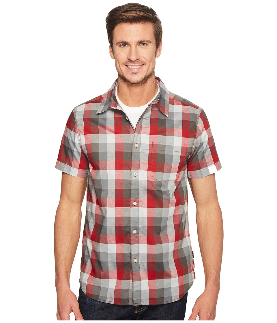 The North Face - Short Sleeve Road Trip Shirt (Cardinal Red Plaid (Prior Season)) Men's Short Sleeve Button Up