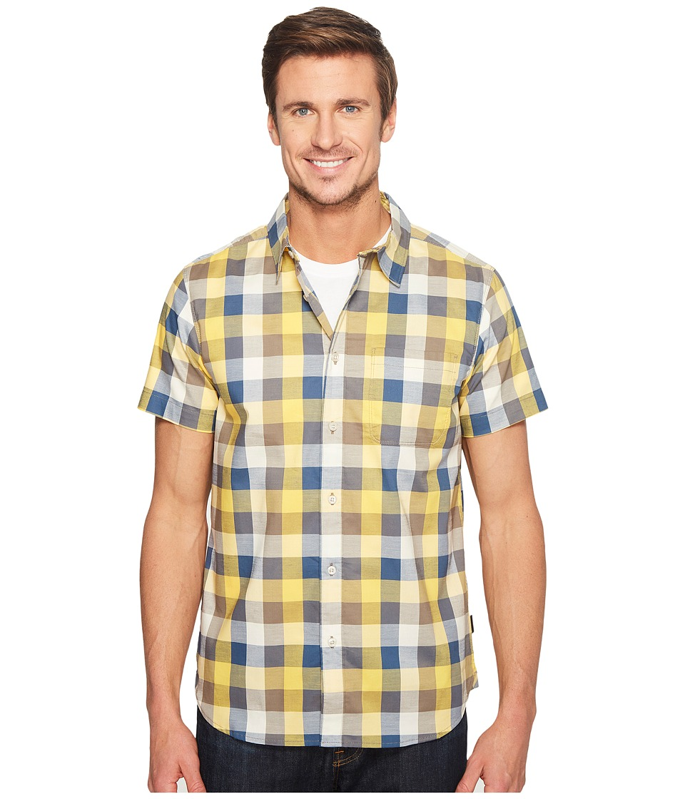 The North Face - Short Sleeve Road Trip Shirt (Falcon Brown Plaid (Prior Season)) Men's Short Sleeve Button Up