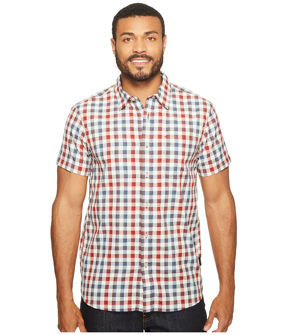 The North Face - Short Sleeve Getaway Shirt (Rage Red Plaid (Prior Season)) Men's Short Sleeve Button Up