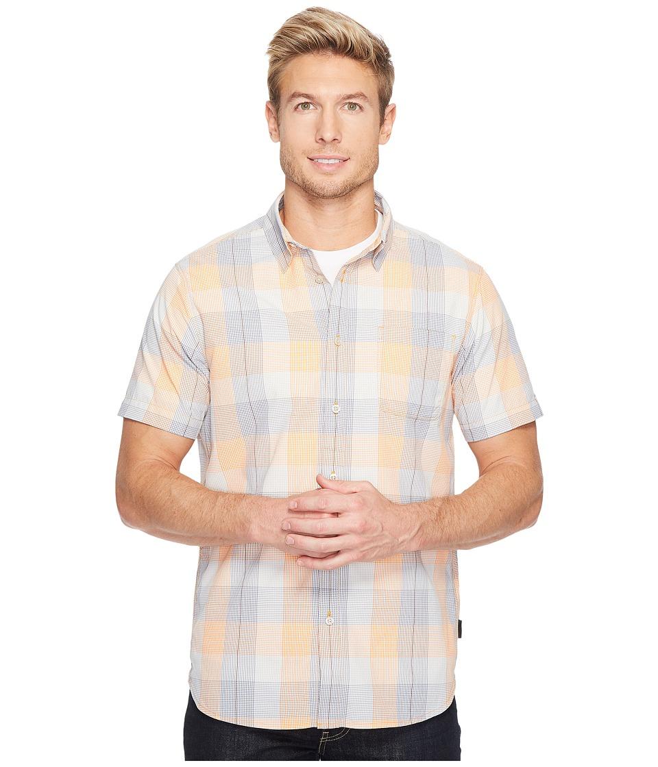 The North Face Short Sleeve Expedition Shirt (Light Exuberance Orange Plaid) Men