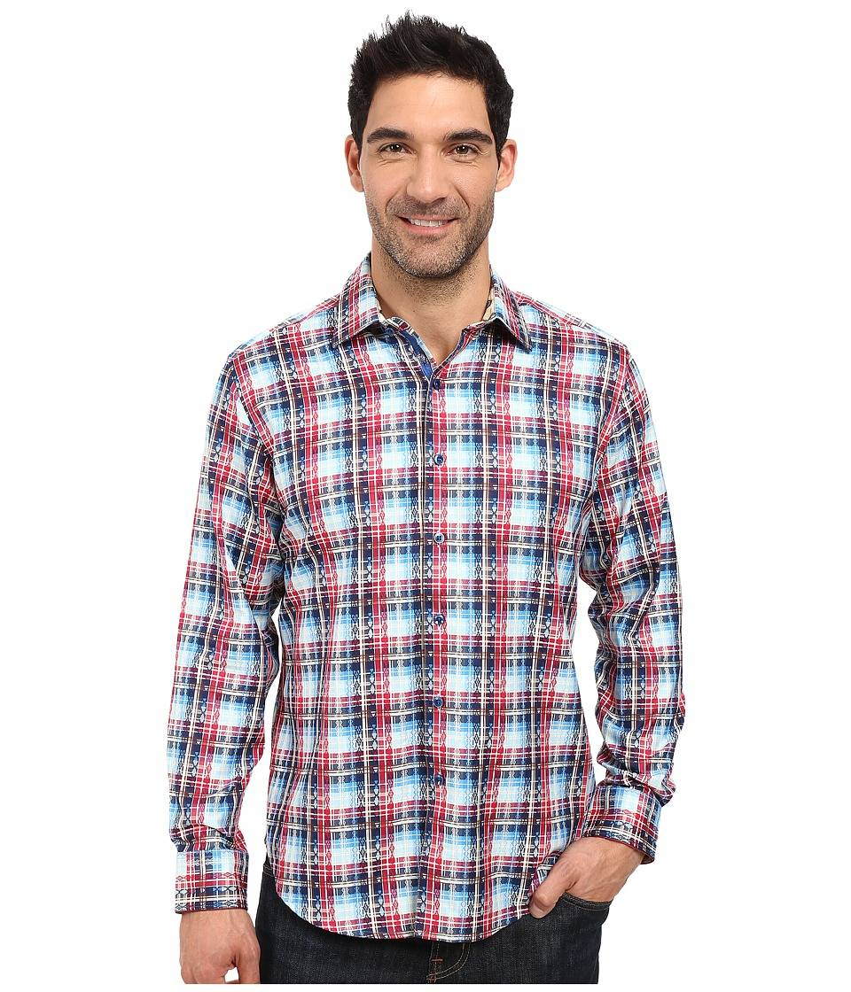 Robert Graham - Rift Valley Long Sleeve Woven Shirt (Red) Men's Clothing