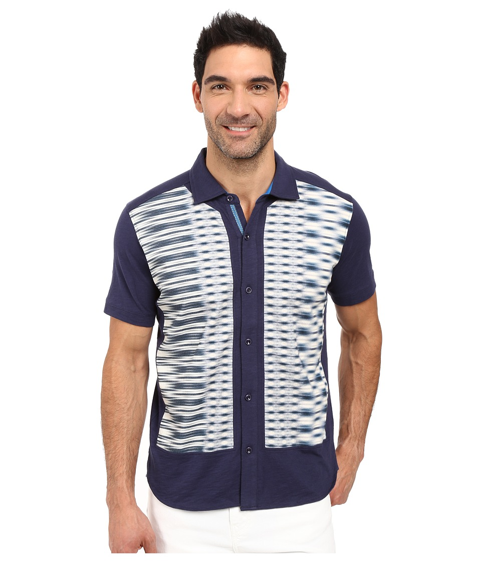 Robert Graham - Yuma Short Sleeve Knit Button Down (Dark Navy) Men's Short Sleeve Button Up
