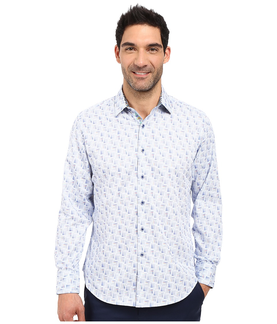 Robert Graham - Suez Canal Long Sleeve Woven Shirt (Blue) Men's Clothing