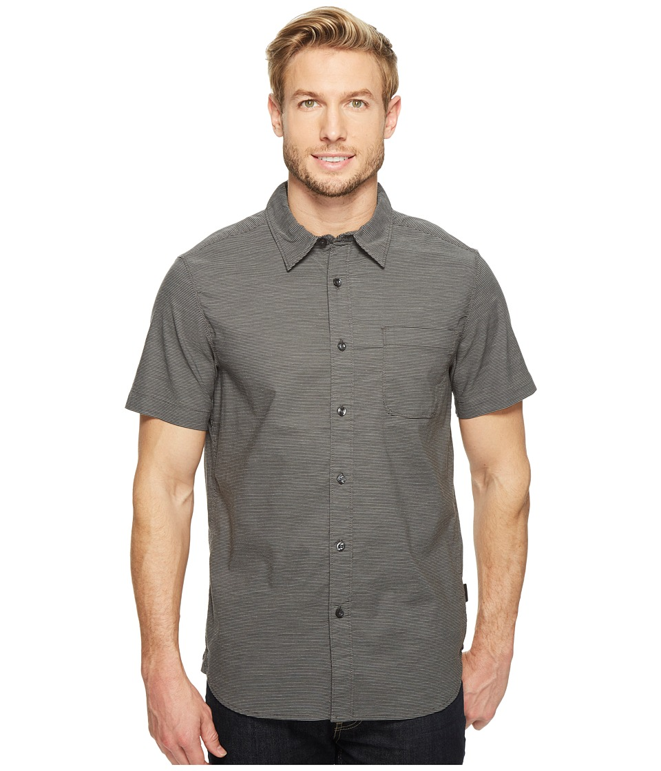 The North Face - Short Sleeve On Sight Shirt (Asphalt Grey Stripe (Prior Season)) Men's Short Sleeve Button Up