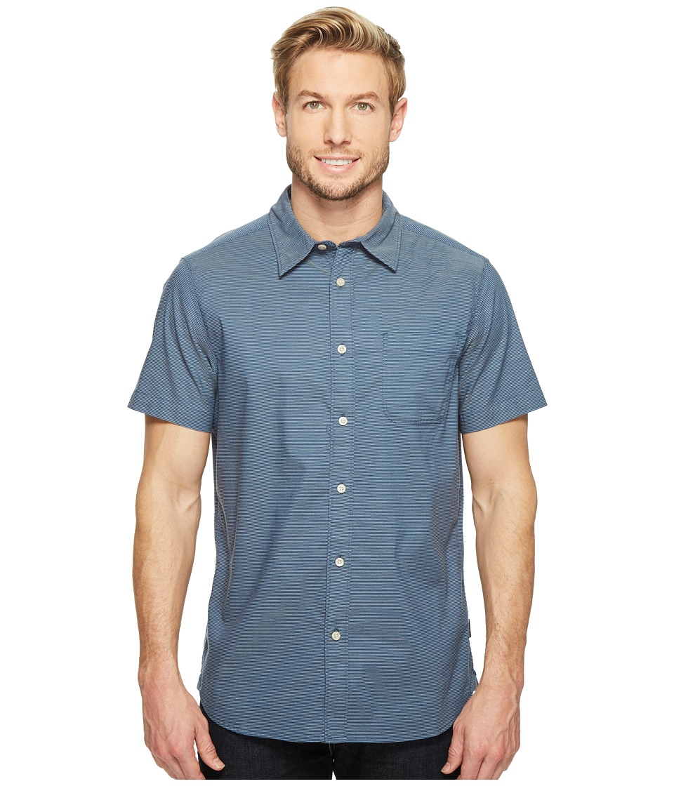 The North Face - Short Sleeve On Sight Shirt (Shady Blue Stripe (Prior Season)) Men's Short Sleeve Button Up