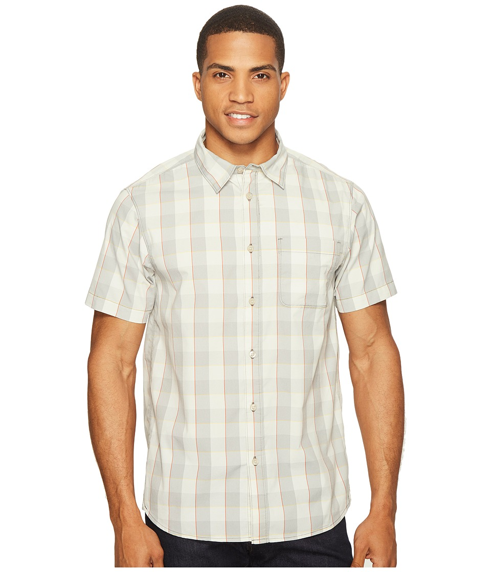 The North Face - Short Sleeve Voyager Shirt (High-Rise Grey Plaid (Prior Season)) Men's Short Sleeve Button Up
