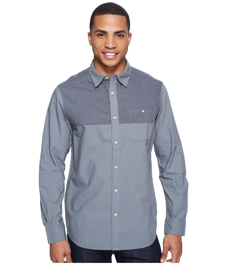 The North Face - Long Sleeve Block Me Shirt (Asphalt Grey (Prior Season)) Men's Long Sleeve Button Up