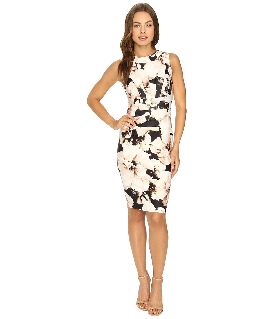 Calvin Klein - Printed Sheath Dress (Latte Multi) Women's Dress