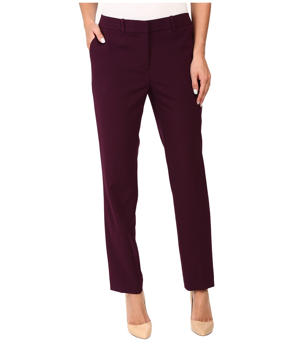 Calvin Klein - Slim Pants w/ Pockets (Aubergine) Women's Dress Pants