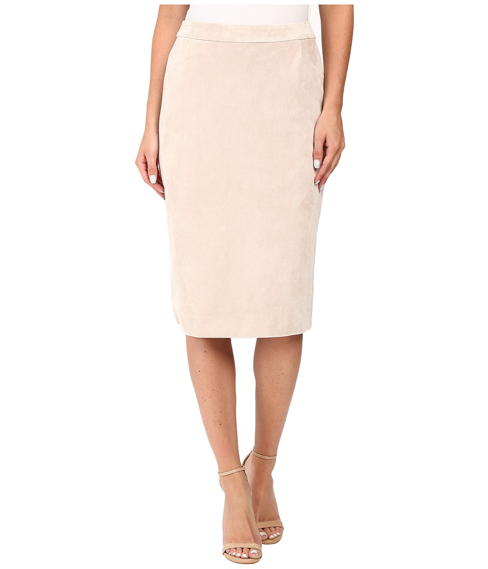 Calvin Klein - Faux Suede Pencil Skirt (Latte) Women's Skirt