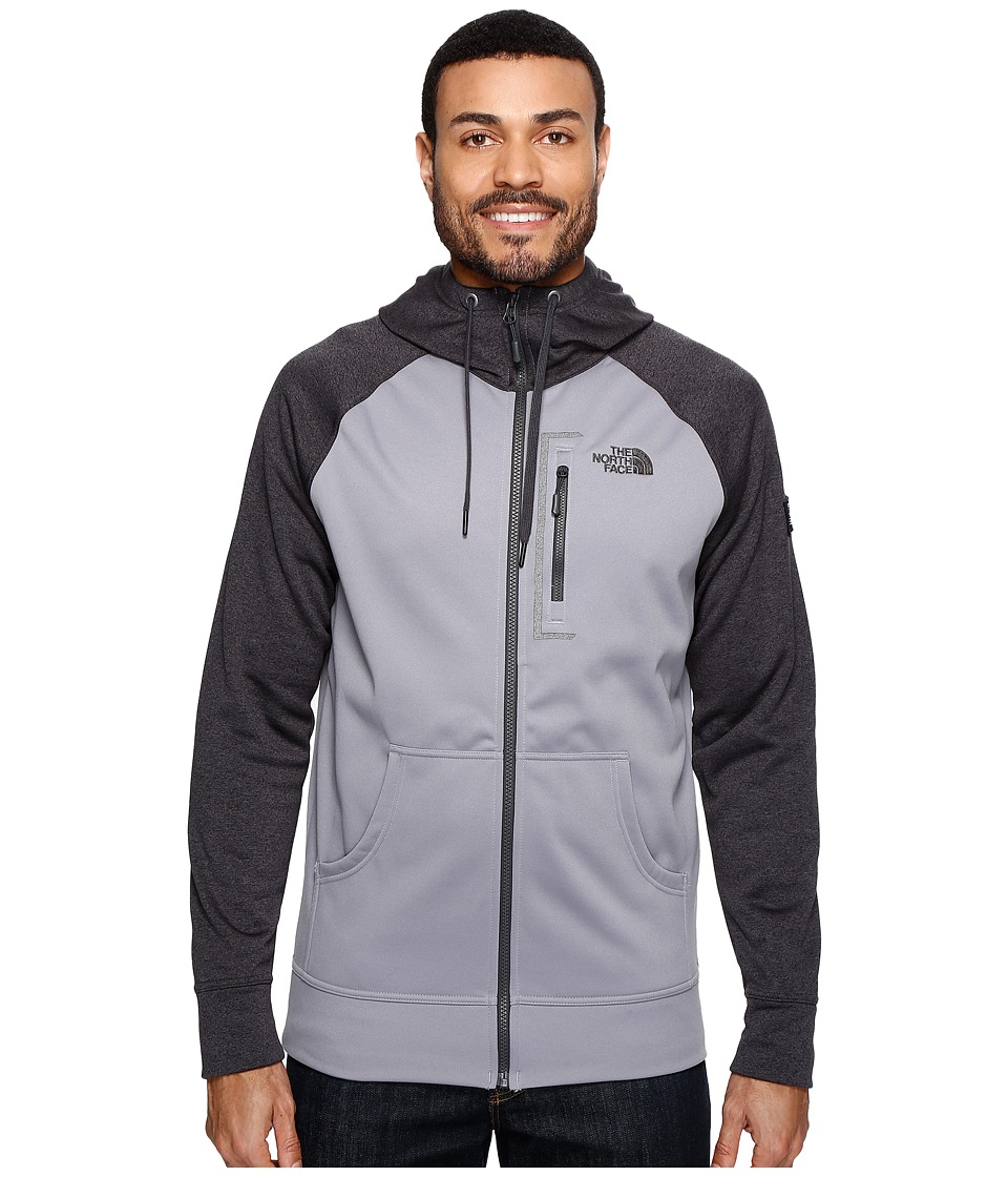 The North Face - Mack Mays Full Zip Hoodie (TNF Dark Grey Heather/Mid Grey (Prior Season)) Men's Sweatshirt