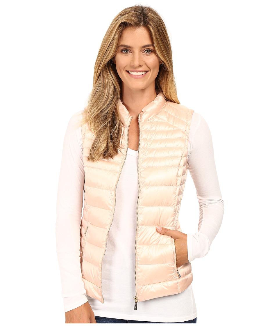 Calvin Klein - Metallic Puffer Vest (Pearlized Blush) Women's Vest