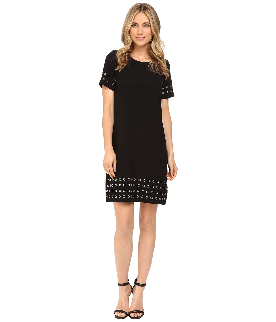 Calvin Klein - T-Shirt Dress w/ Grommets (Black) Women's Dress