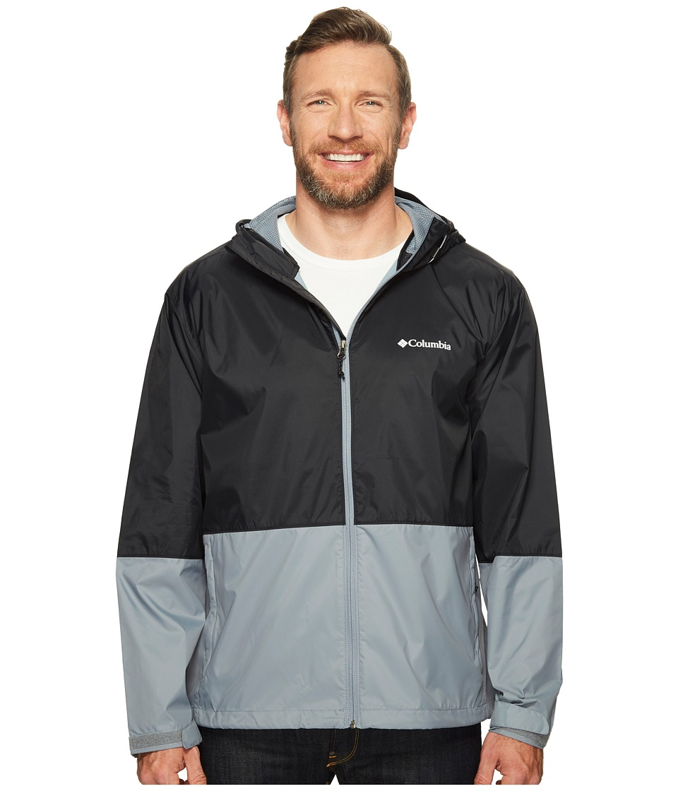 Columbia - Plus Size Roan Mountain Jacket (Black/Grey Ash) Men's Coat