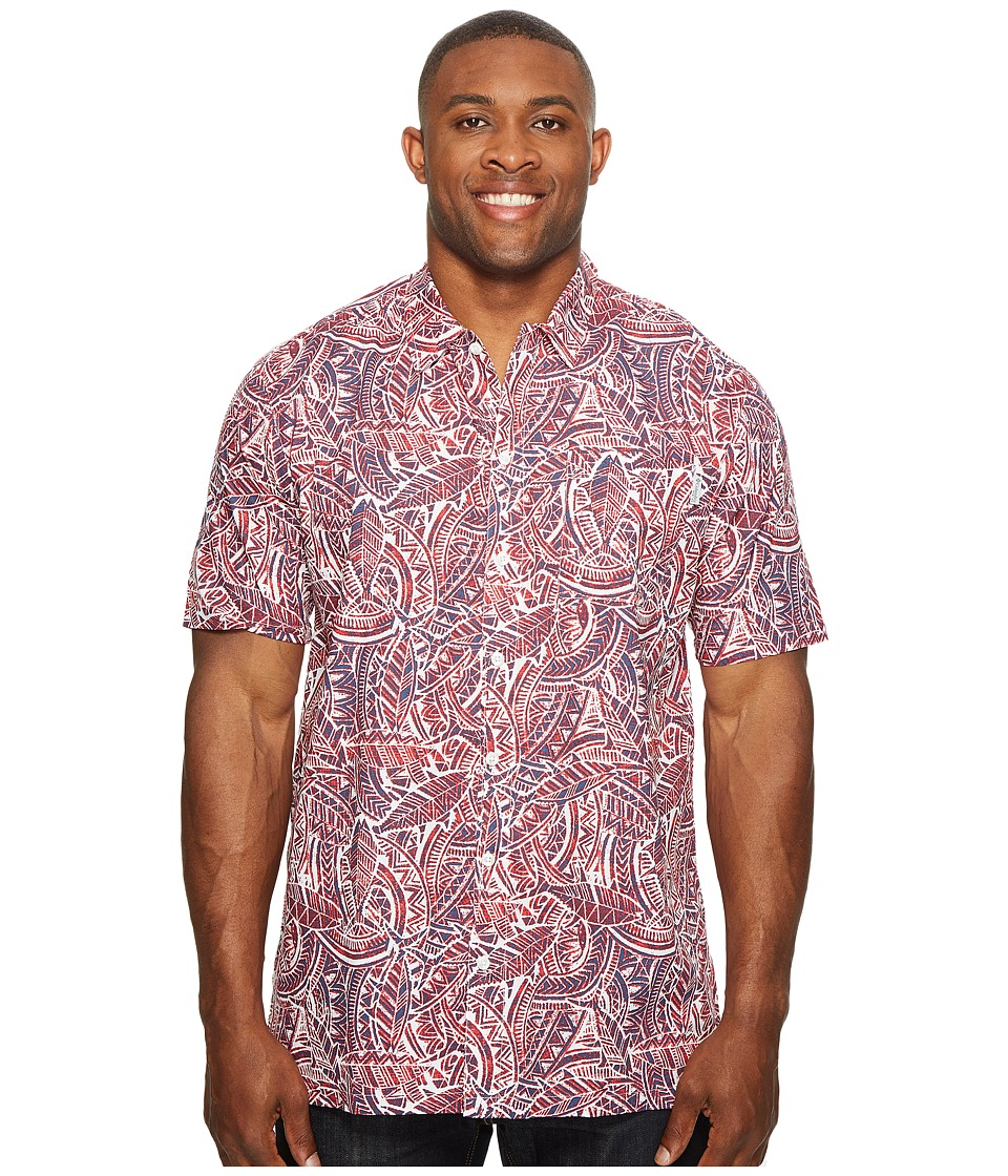 Columbia - Big Tall Trollers Best Short Sleeve Shirt (Sunset Red Tuna) Men's Short Sleeve Button Up
