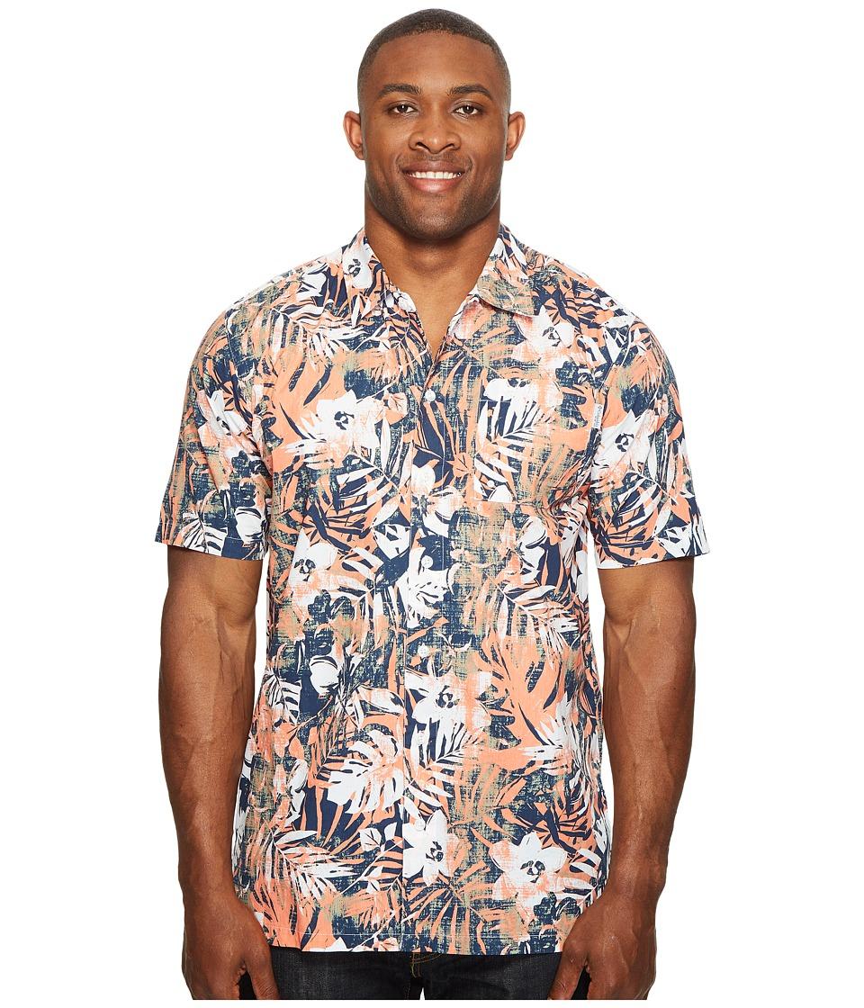 Columbia - Big Tall Trollers Best Short Sleeve Shirt (Bright Peach Botanic) Men's Short Sleeve Button Up