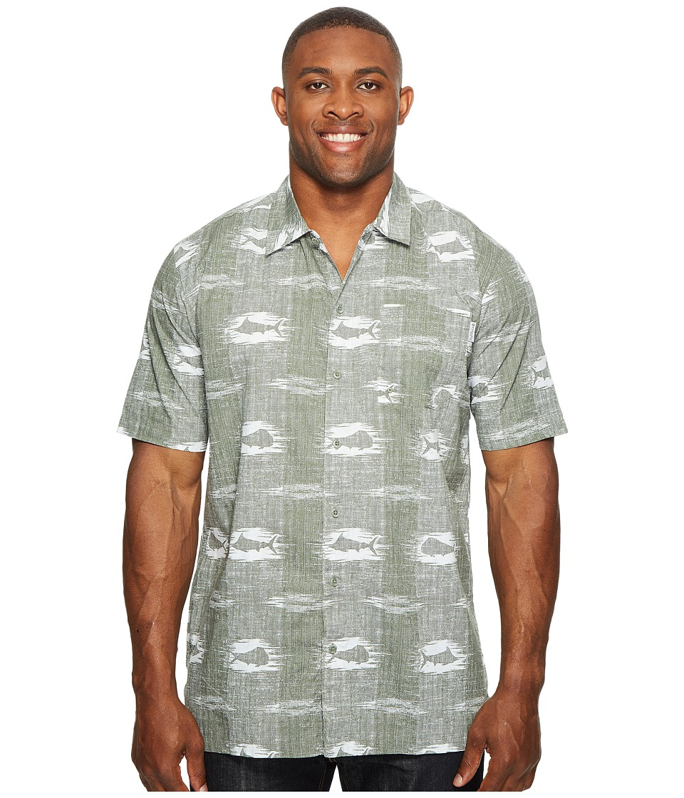Columbia - Big Tall Trollers Best Short Sleeve Shirt (Cypress Ikat Fish) Men's Short Sleeve Button Up