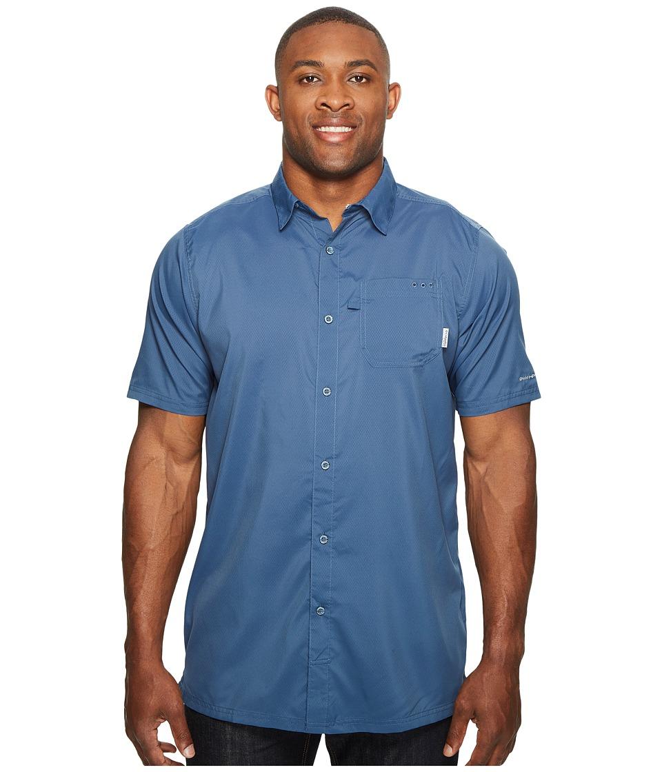 Columbia - Big Tall Slack Tide Camp Shirt (Dark Mountain) Men's Short Sleeve Button Up