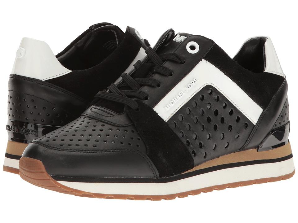 MICHAEL Michael Kors - Billie Trainer (Black Vachetta Perf/Sport Suede/Patent) Women's Shoes