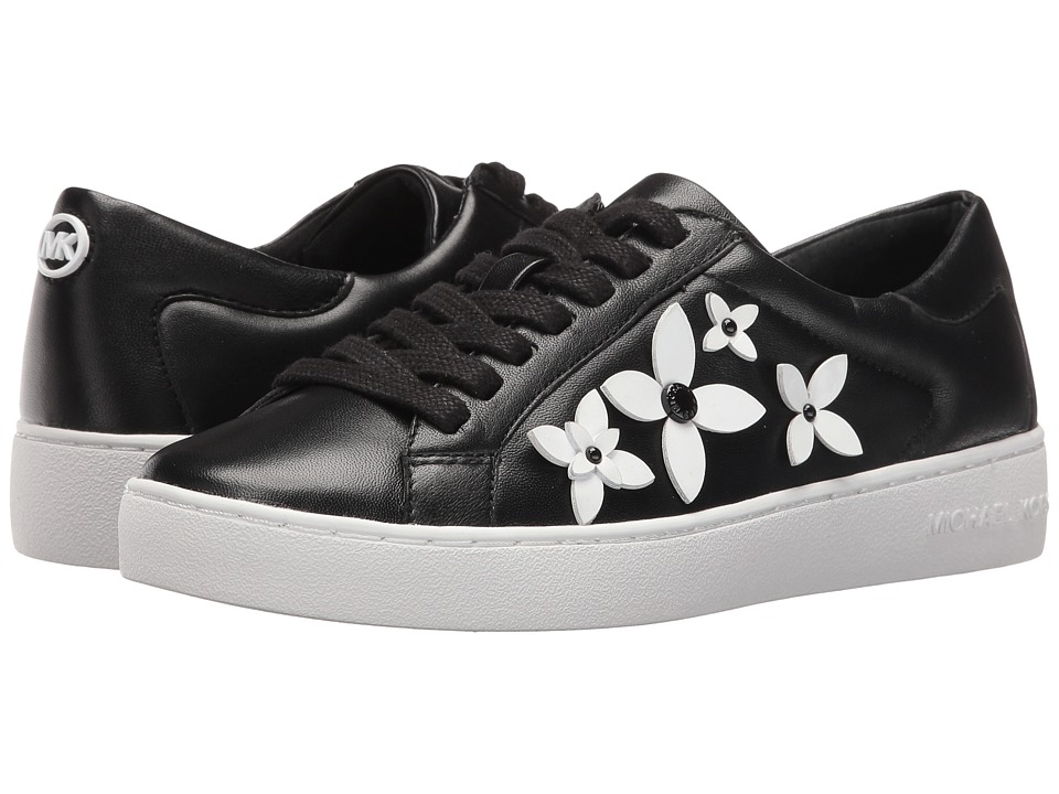 MICHAEL Michael Kors - Lola Sneaker (Black/Optic White PVC) Women's Lace up casual Shoes