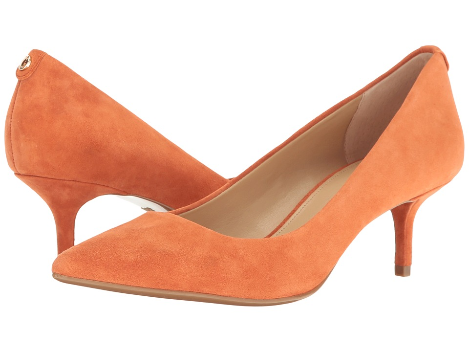 MICHAEL Michael Kors - MK Flex Kitten Pump (Orange Kid Suede) High Heels