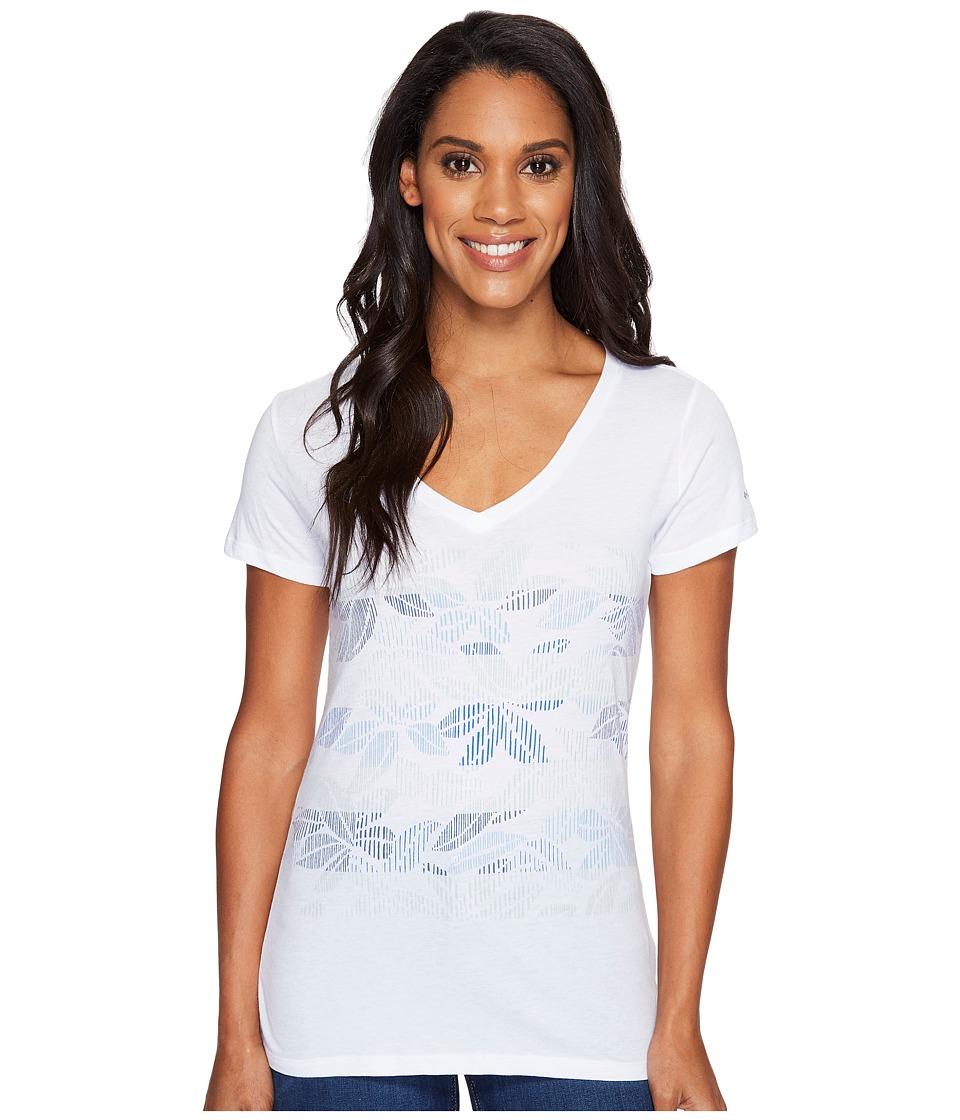 Columbia - Sandy Stripes Short Sleeve Tee (White) Women's Short Sleeve Pullover