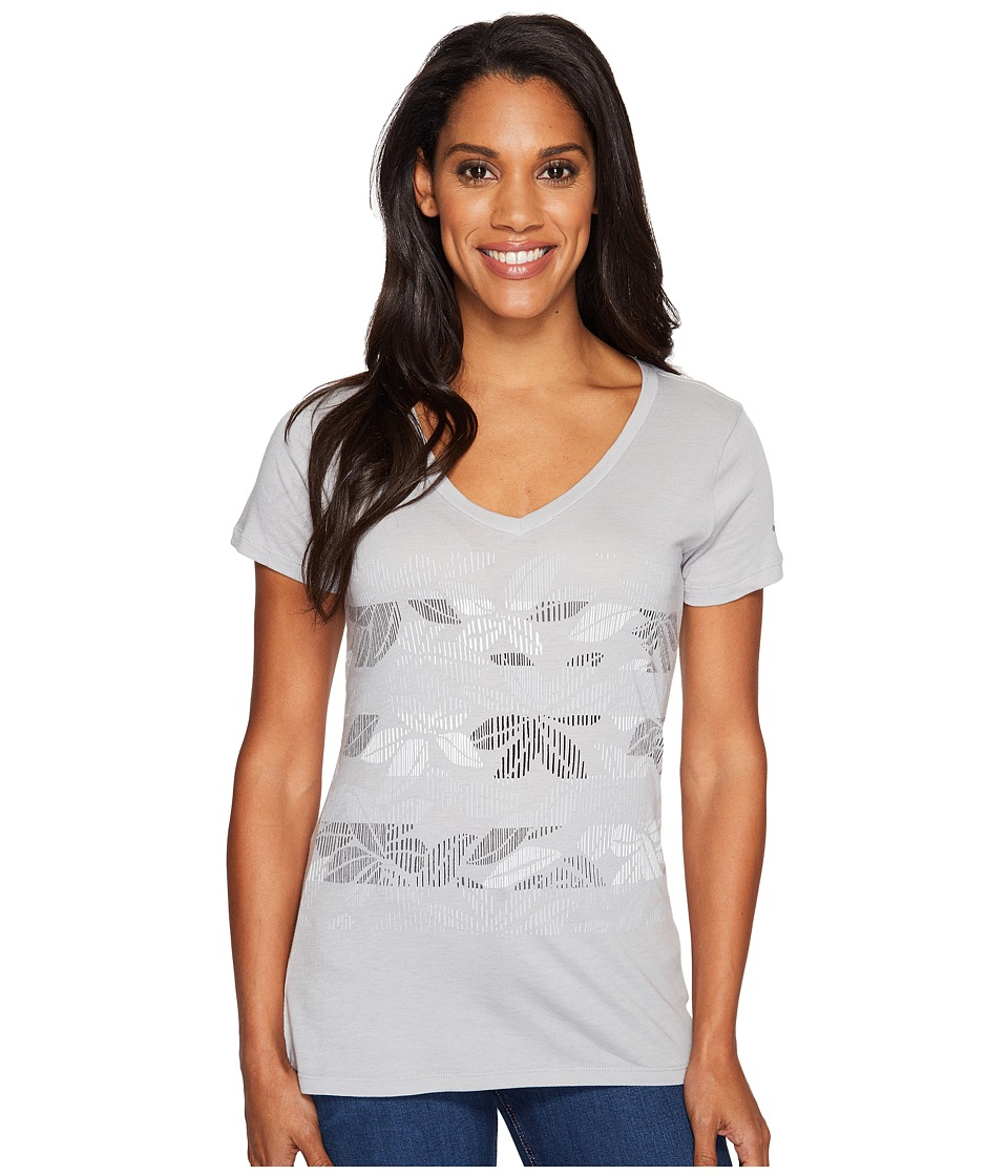 Columbia - Sandy Stripes Short Sleeve Tee (Grey Heather) Women's Short Sleeve Pullover