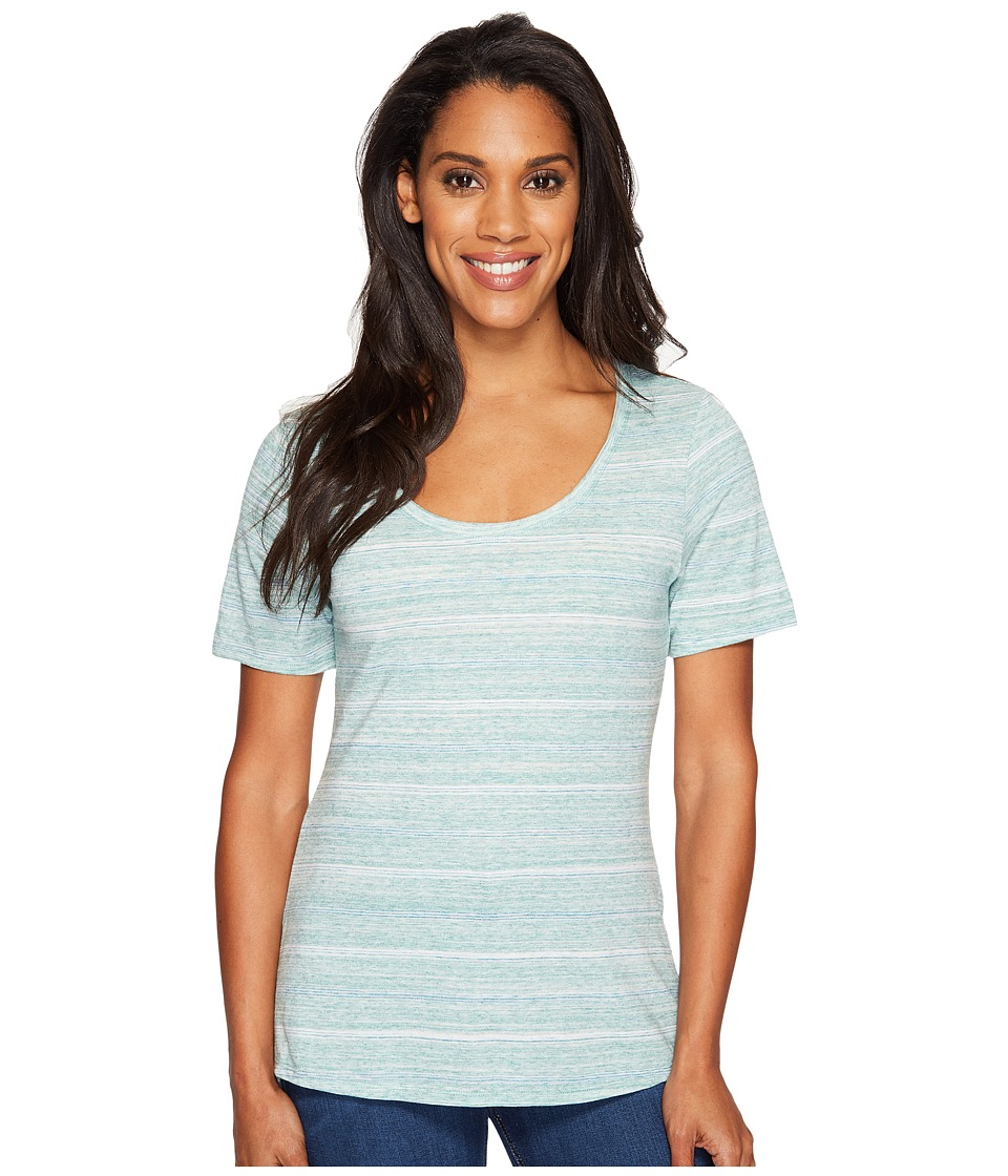 Columbia - Sunshine Springs Tee (Sea Ice Stripe) Women's T Shirt