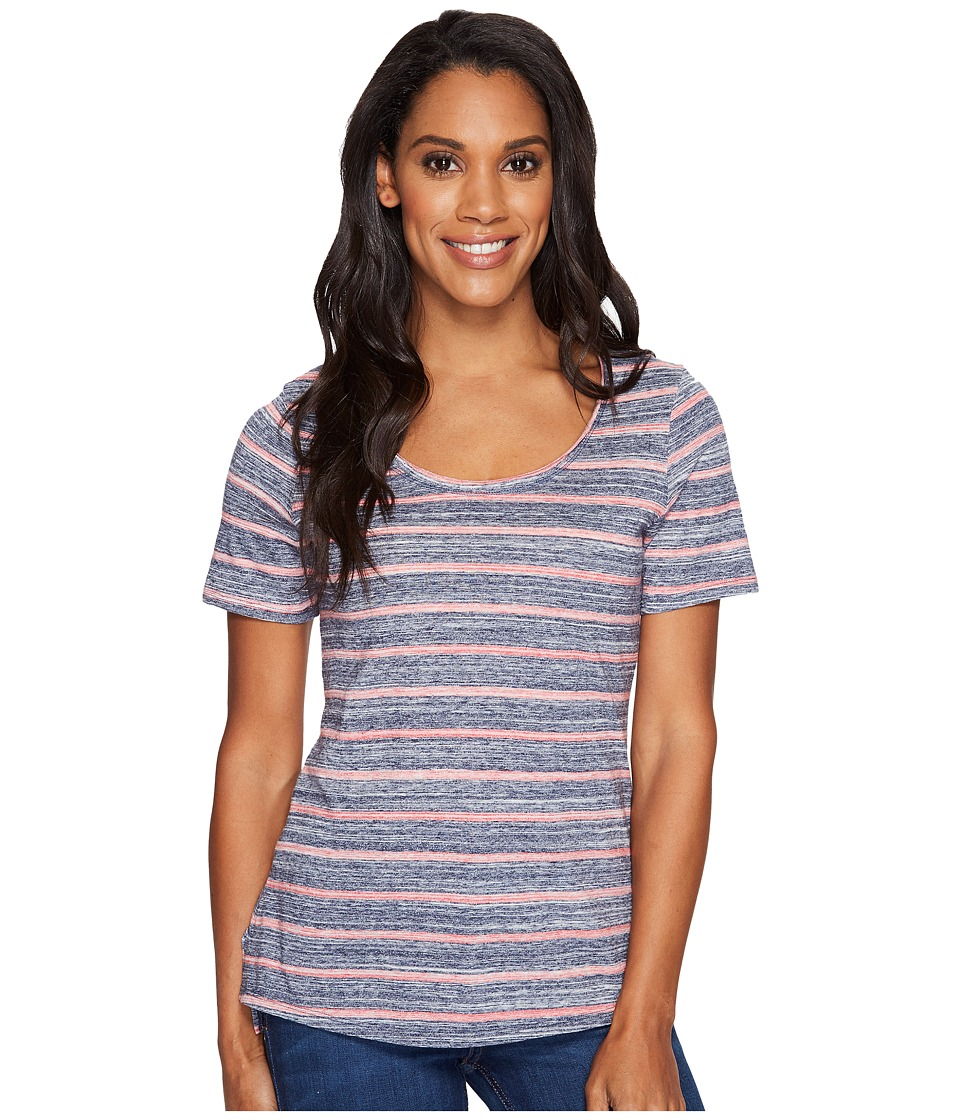 Columbia - Sunshine Springs Tee (Sunset Red Stripe) Women's T Shirt