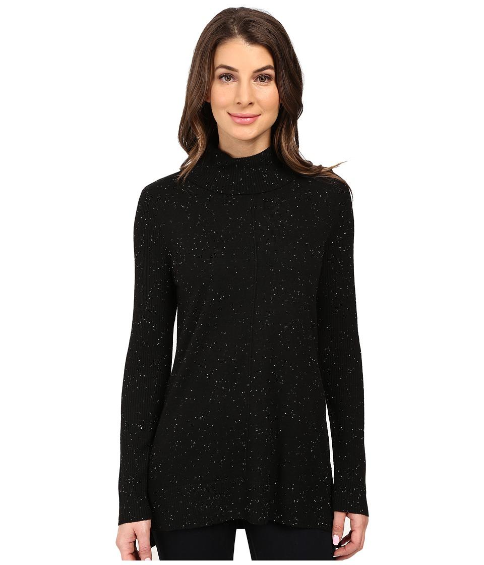 Calvin Klein - Turtleneck w/ Fleck Detail (Black) Women's Sweater