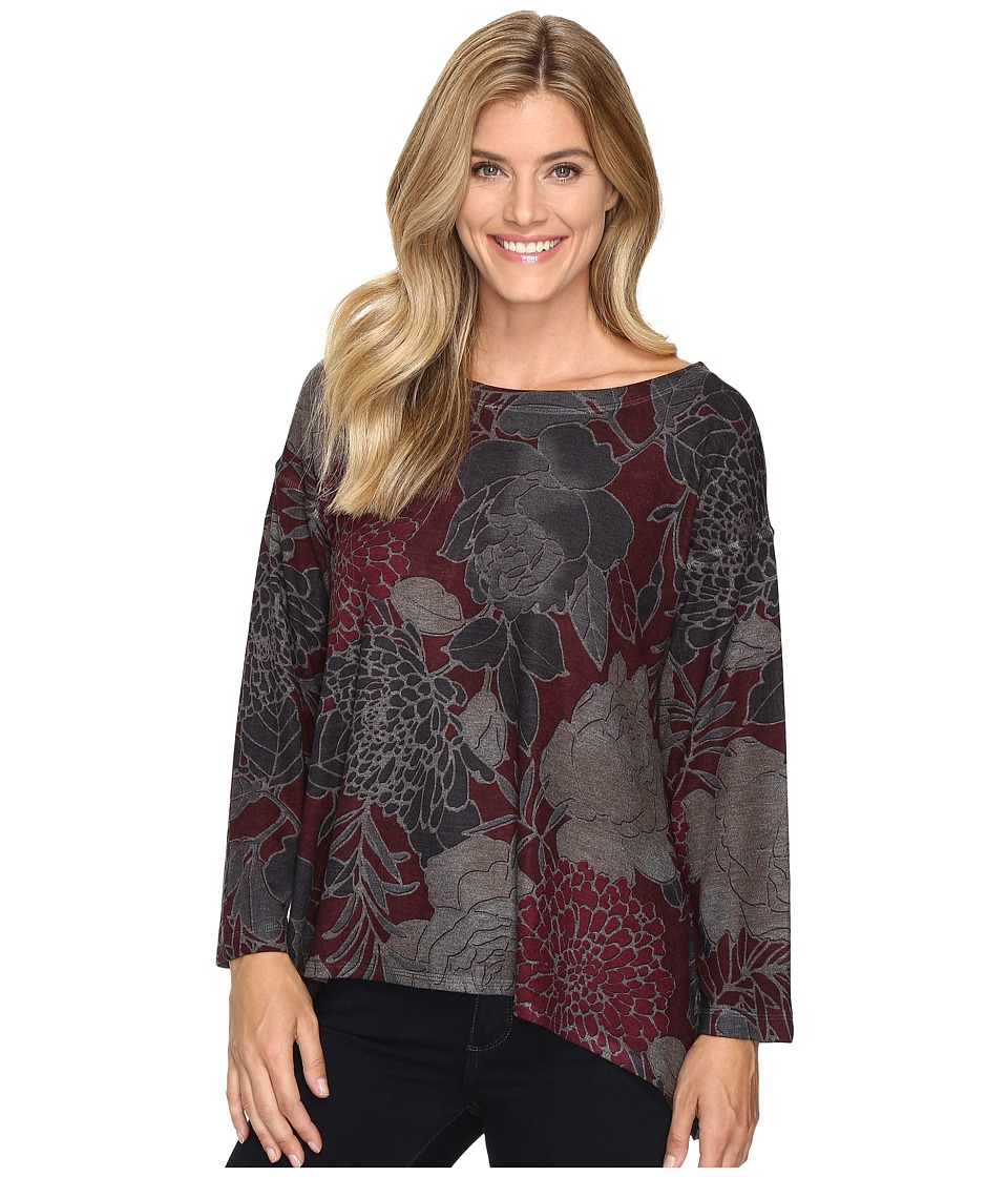 Nally & Millie - Floral Print Sweater Top (Multi) Women's Clothing