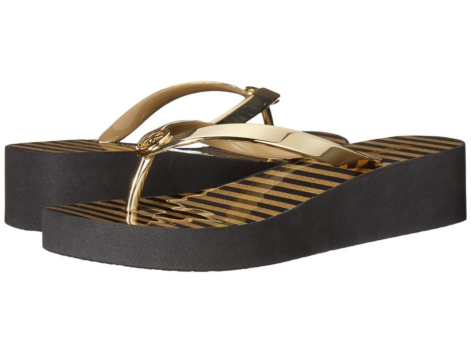 MICHAEL Michael Kors - Bedford Flip Flop Shiny (Gold Metallic PVC/Glitter Stripe EVA) Women's Sandals
