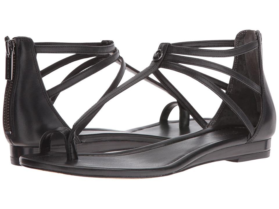 MICHAEL Michael Kors - Camille Sandal (Black Vachetta) Women's Sandals