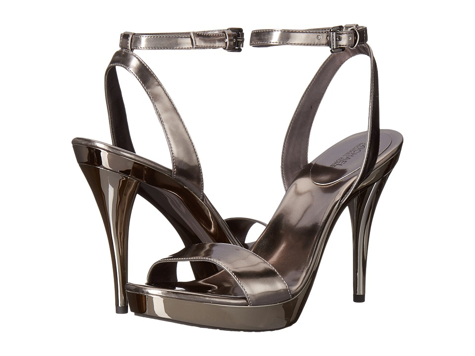 MICHAEL Michael Kors Catarina Sandal (Gunmetal Mirror Metallic) Women