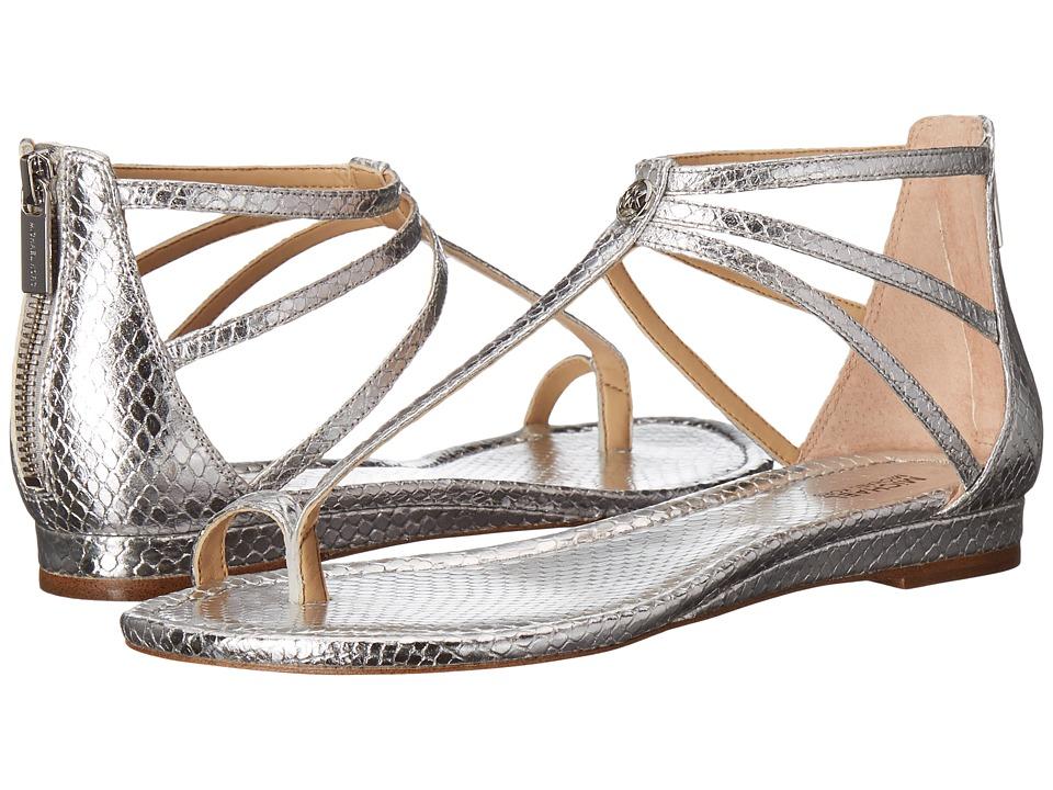 MICHAEL Michael Kors - Camille Sandal (Silver Metallic Snake) Women's Sandals
